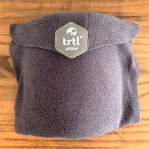 TRTL Travel Neck Pillow Wrap Velcro Closure Gray